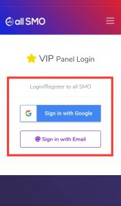 all SMO Login Page