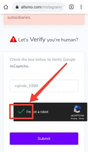 Configuration Page Verify Captcha all SMO