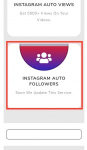 Instagram Services List all SMO