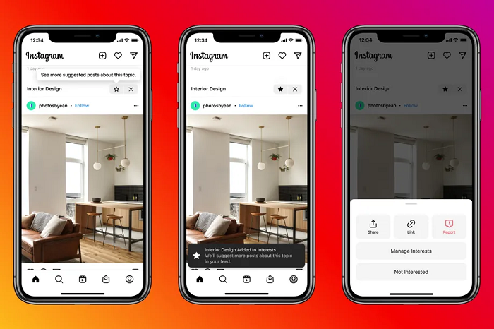 Instagram Tests New Content Recommendations
